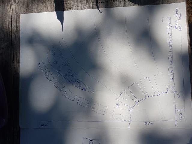 Die Planskizze zur Aufstellung